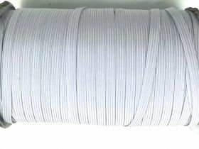 Roll of 6mm Braided Elastic- Cool White #1012F