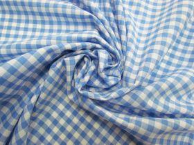 6mm Gingham Cotton- Sky Blue #5563