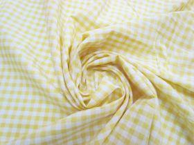6mm Gingham Cotton- Yellow #5566