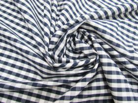 6mm Gingham Cotton- Navy #5567