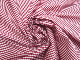 3mm Gingham Cotton- Red #5569