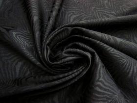 Fierce Stripes Stretch Jacquard- Black #4199