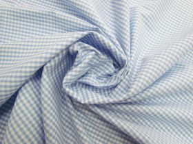 3mm Gingham Cotton- Baby Blue #5570
