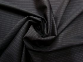 Inky Stripe Lightweight Wool Suiting #5586