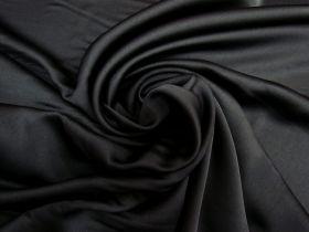 Satin Back Crepe- Obsidian Black #5585