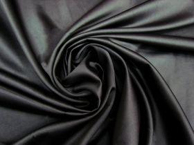 Stretch Crepe Back Satin- Galactic Black #5584