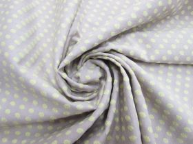 Embroidered Spot Cotton- Berry Yoghurt #5594
