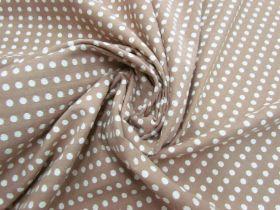 Embroidered Spot Cotton- Vanilla Caramel #5593