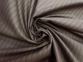 Herringbone Milk Chocolate Stripe Suiting #5611