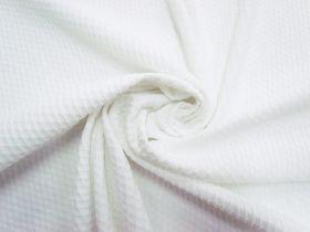 Lattice Bubble Knit- White #5615