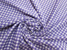 Gingham Double Knit- Purple Pop #5626