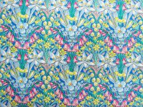 Liberty Cotton- Adlington Hall- Summer Brights- Flower Show Summer Collection