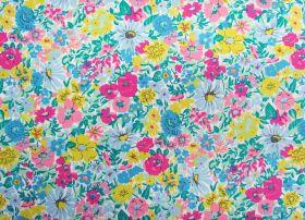Liberty Cotton- Malvern Meadow- Summer Brights- Flower Show Summer Collection