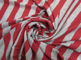 Soft Jersey- Red & Grey #5647