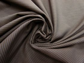 Pinstripe Suiting- Chestnut Brown #5648