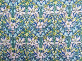 Liberty Cotton- Adlington Hall- Soft Spring- Flower Show Spring Collection