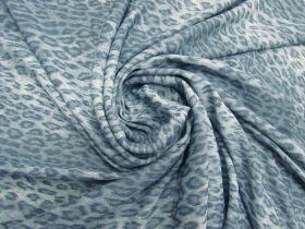 Leopard Stretch Viscose- Chill Blue #5655