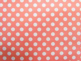 Spot Cotton- White on Peach #4262