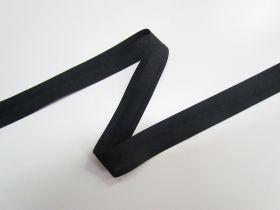 25mm Poly Cotton Bias Binding- Black- 8047-16