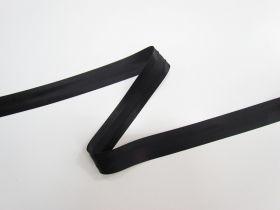 20mm Satin Bias Binding- Black 8024-06