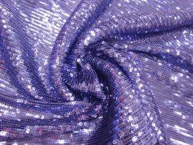 Embroidered Sequin Mesh- Mystic Violet #5677