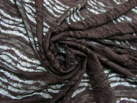 Floral Wave Stretch Lace- Deep Brown #5680