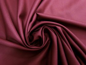 Viscose Blend Twill Suiting- Red Currant Jam #5694