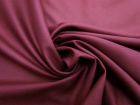 Viscose Blend Twill Suiting- Berry Burgundy #5696