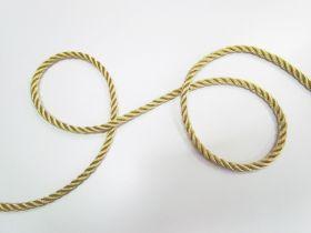 8mm Twisted Metallic Cord- Gold