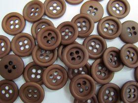 Brown 4 Hole Fashion Button #FB125