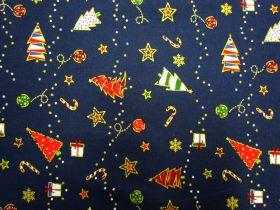 Festive Cheer Cotton- Navy #5726