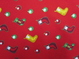 Deck The Halls Cotton- Red #5727