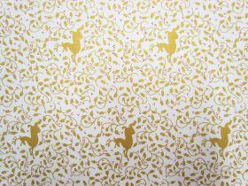 Golden Reindeer Cotton- White #5734
