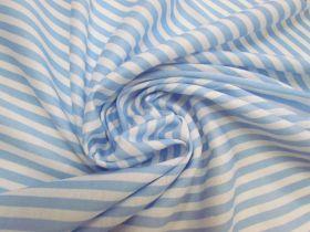 Soft Interlock Jersey- Baby Blue Stripe #5756