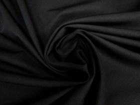 Wool Cotton Twill Suiting- Black #5763