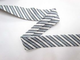 A Day In The Country Bias- Ticking Stripe- Grey