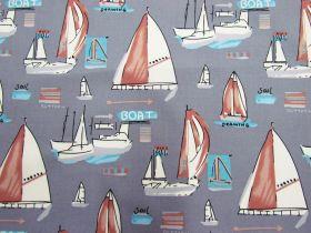 Yacht Club Cotton- Grey