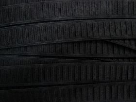 25mm Comfort Ribbed Elastic- Black #560