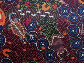 Around Waterhole Cotton- Red