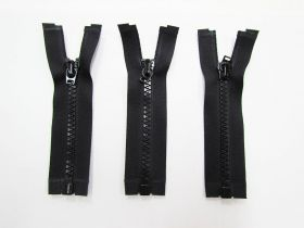 Zipper Bundle- Short Head Open End- 10cm Black- 3 for $5