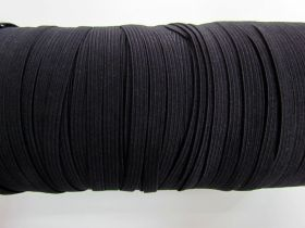 6mm Braided Elastic- Black #1001