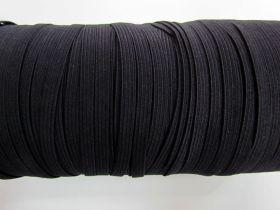 Roll of 6mm Braided Elastic- Black #1001F