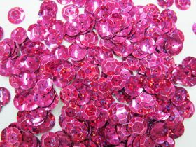 24gm Sequin Pack- Holographic Pink- 12mm #020