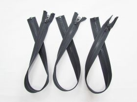 Zipper Bundle- Chunky Open End- 55cm Cinder Grey- 3 for $5