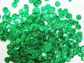 24gm Sequin Pack- Holographic Emerald- 8mm #036