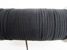 3mm Braided Elastic- Black #1005M