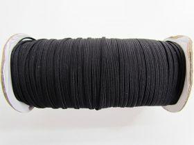 Roll of 3mm Braided Elastic- Black #1007F