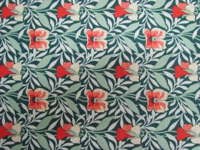 Liberty Cotton- Harriet's Pansy- Green- 0477548Z- The Hesketh House Collection