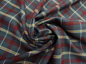 Wool Blend Redwood Tartan Suitings #5780