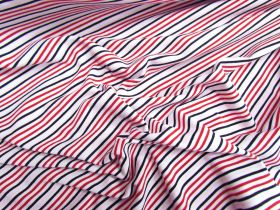 *Seconds* Raspberry Bullet Stripe Cotton Spandex